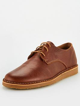 office-carl-leather-lace-up-shoes-brown