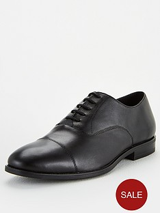 office-memo-lace-up-oxford-toe-cap-shoes-black