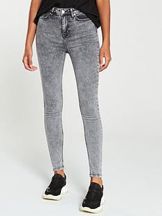 v-by-very-ella-high-waist-acid-wash-jean-grey