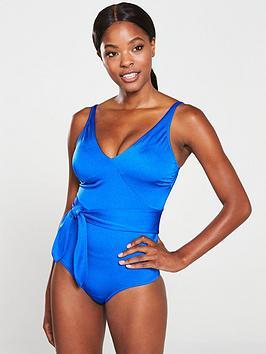 Pour Moi Pour Moi Azure Wrap Control Suit - Deep Blue Picture