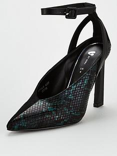 v-by-very-season-half-snake-pointed-ankle-strap-court
