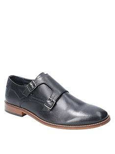 base-london-base-london-montage-waxy-leather-buckle-shoe