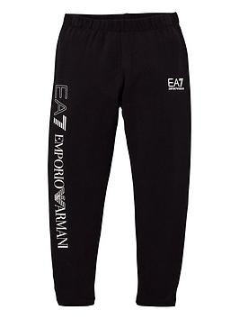 EA7 Emporio Armani Ea7 Emporio Armani Girls Sporty Logo Leggings - Black Picture
