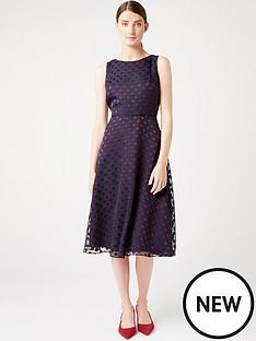 hobbs-hobbs-spot-devore-adeline-dressdress-navyburgundy