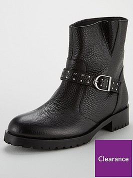 karen-millen-biker-pull-on-ankle-boots-black