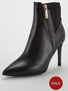 karen-millen-ella-flare-ankle-boots-black