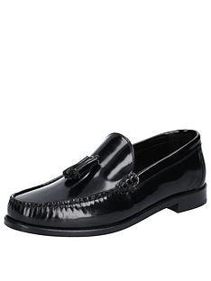 base-london-chime-high-shine-loafers-black