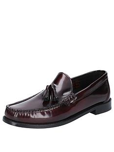 base-london-chime-high-shine-loafers-chocolate