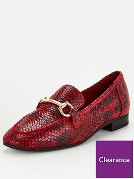v-by-very-mario-leather-snaffle-trim-loafers-red