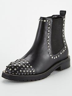 kurt-geiger-london-raven-ankle-boots-black