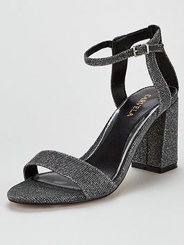 Carvela Carvela Kiki Block Heel Sandals - Pewter Picture