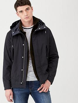 Pretty Green Pretty Green Cropped Parka Jacket - Black Picture