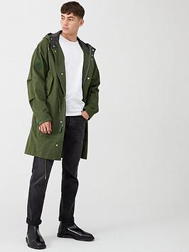 Pretty Green Pretty Green Hooded Parka - Green Picture