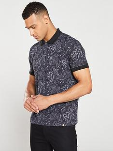 pretty-green-paisley-print-polo-shirt-blackgrey