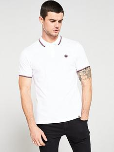 pretty-green-tipped-pique-polo-shirt-white