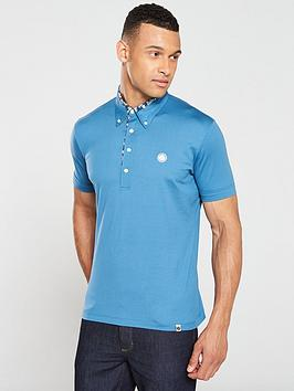 pretty-green-barley-carver-polo-shirt-blue