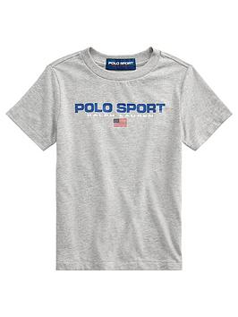 Ralph Lauren Ralph Lauren Boys Short Sleeve Polo Sport T-Shirt - Grey Picture
