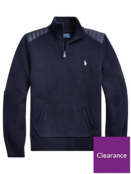 ralph-lauren-boys-half-zip-knitted-jumper-navy