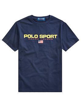Ralph Lauren Ralph Lauren Boys Short Sleeve Polo Sport T-Shirt - Navy Picture