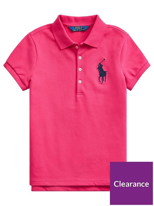 POLO RALPH LAUREN Boy Girl Kids Red Short Sleeve Polo Shirt