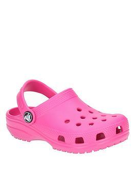 Crocs Crocs Girls Classic Clog Slip Ons - Pink Picture