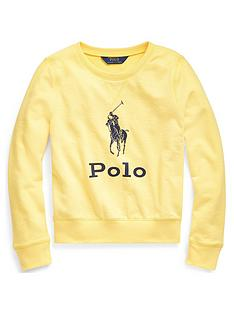 ralph-lauren-girls-polo-crew-sweat-top-yellow