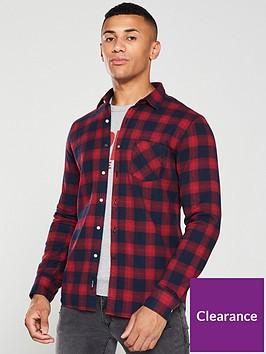 replay-checked-flannel-shirt-rednavy