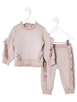 river-island-mini-mini-girls-frill-jumper-outfit-pink