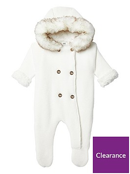 river-island-baby-baby-hooded-knit-all-in-one-cream
