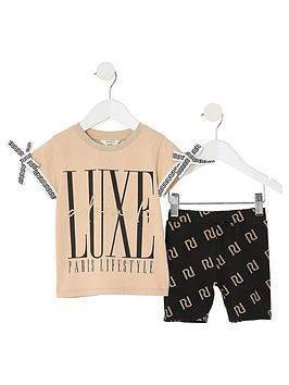 river-island-mini-mini-girls-luxe-print-t-shirt-outfit-beige