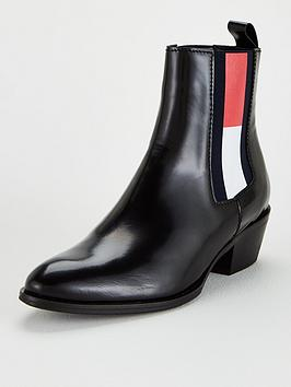 Tommy Jeans Tommy Jeans Cowboy Boots - Black Picture