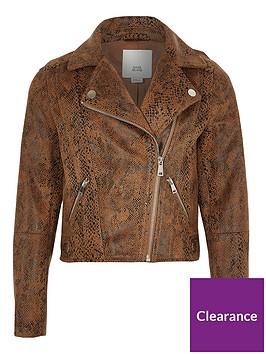 river-island-girls-snake-print-biker-jacket-brown