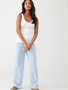 v-by-very-jersey-woven-pants-set-bluestripe