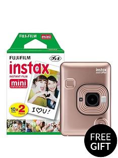 fujifilm-instax-mini-liplay-hybrid-blush-gold-instant-camera-inc-20-shots