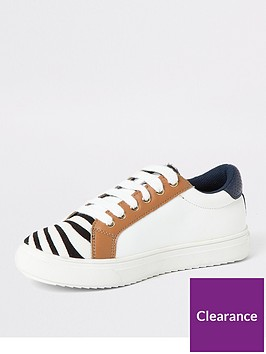 river-island-girls-zebra-print-lace-up-plimpsolls-white