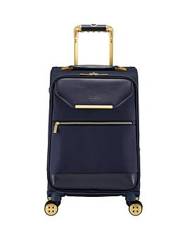 Ted Baker Ted Baker Albany Small 4 Wheel Suitcase Navy Picture