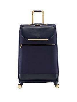Ted Baker Ted Baker Albany Large 4 Wheel Suitcase Navy Picture