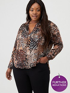 v-by-very-curve-longline-printed-shirt-tiger-print