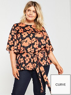 v-by-very-curve-keyhole-blouse-floral-print