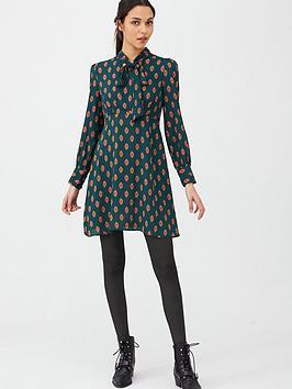 V by Very V By Very Tie Neck Skater Dress - Print Picture