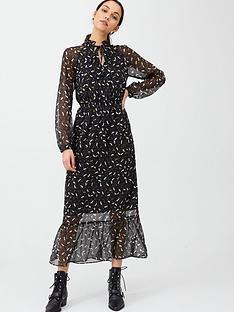 v-by-very-lurex-spot-tie-neck-midaxi-dress-print