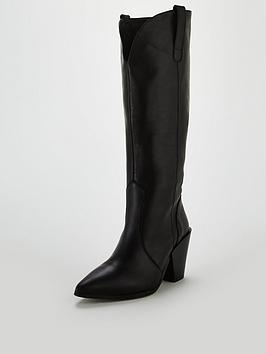 office-kash-western-knee-high-boots-black