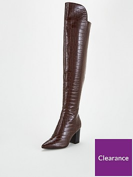 v-by-very-laurel-hi-lo-croc-over-the-knee-boots-brown