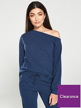 v-by-very-slouch-co-ord-top-navy