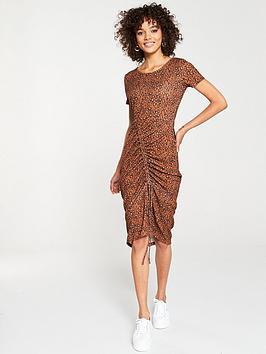 v-by-very-animal-printed-midi-ruched-dress-multi