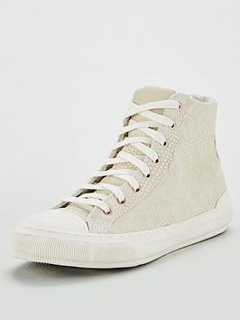 Superdry Superdry Premium Pacific High Top Plimsoll - White Picture