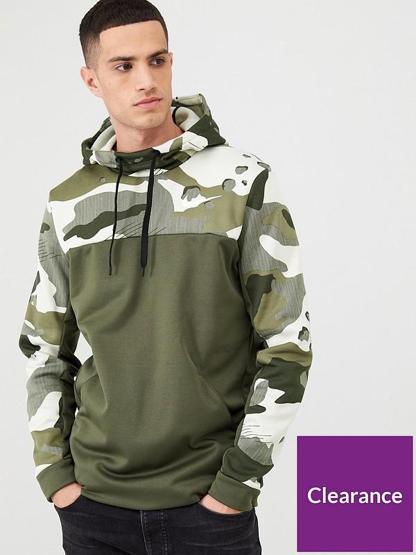 nike therma camo training hoodie
