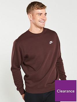 nike-sportswear-club-fleece-crew-neck-sweat-maroon