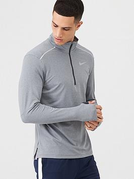 Nike Nike Half Zip Running Top - Grey Picture