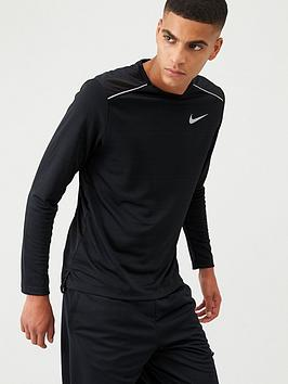 Nike Nike Dry Miler Running Long Sleeve T-Shirt - Black Picture